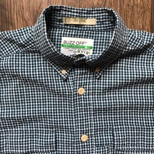 Orvis   Buzz Off Insect Repelling Shirt sz L